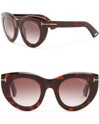 dc80f68605 Lyst - Tom Ford Arabella Cat Eye Sunglasses in Black