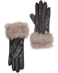 UGG - Genuine Dyed Shearling Leather Trimmed Smart Gloves - Lyst