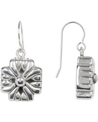 Simon Sebbag - Sterling Silver Mini Braided Cross Drop Earrings - Lyst