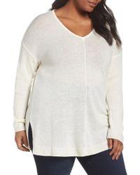Sejour - Easy V-neck Wool & Cashmere Pullover - Lyst