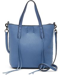 Rebecca Minkoff - Mini Unlined Leather Tote With Whipstitch - Lyst