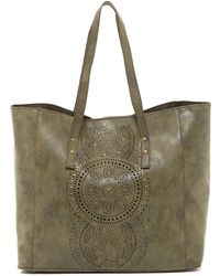 T-Shirt & Jeans - Perforated & Studded Tote - Lyst