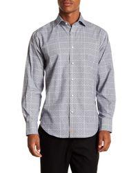 Thomas Dean - Windowpane Crosshatch Long Sleeve Sport Fit Shirt - Lyst