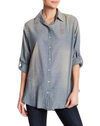 Sundry - Oh La La Oversized Button Down Shirt - Lyst