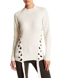 StyleStalker - Day Break Lace-up Knit Jumper - Lyst