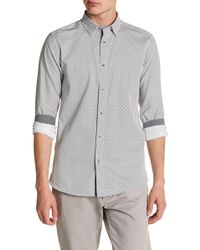 Ted Baker - Printed Rectangle Trim Fit Shirt - Lyst