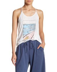Michelle By Comune - Waves Racerback Tank Top - Lyst