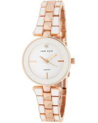 Anne Klein - Women's Diamond Mother Of Pearl Bracelet Watch, 28mm - 0.05 Ctw - Lyst