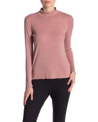 Catherine Malandrino - Long Sleeve Lettuce Edge Turtleneck - Lyst
