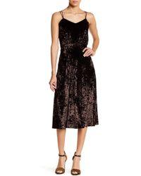 Gracia - Strappy Velvet Dress - Lyst