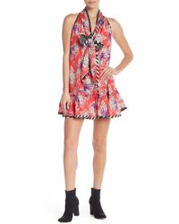 Marc Jacobs - Floral Front Tie Silk Dress - Lyst