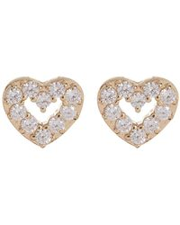 Nadri - Reminisce Pave Cz Open Heart Stud Earrings - Lyst