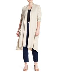 Bobeau - Long Sleeve Knit Cardigan (plus Size) - Lyst