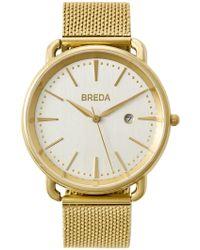 Breda - Women's Linx Mesh Strap Watch, 42mm - Lyst