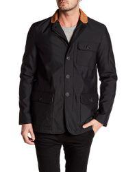 Bugatchi - Contrast Collar Long Sleeve Jacket - Lyst