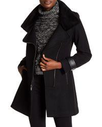 Trina Turk - Aubree Asymmetrical Zip Wool Coat - Lyst