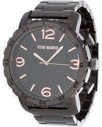 Steve Madden - Men's Alloy 50mm Link Watch - Lyst