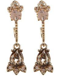 Marchesa - Sweet Escape Crystal Drop Earrings - Lyst