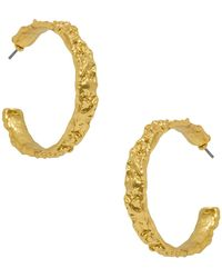 Karine Sultan - Hammered 50mm Hoop Earrings - Lyst