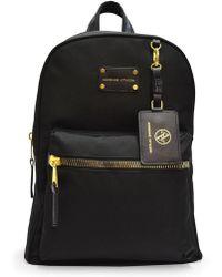 Adrienne Vittadini - Black/gold Nylon Backpack - Lyst