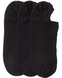 DKNY - Extreme No Show Socks - Pack Of 3 - Lyst