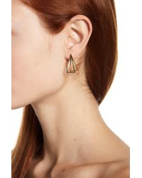 Argento Vivo - 18k Gold Plated Sterling Silver Triangle Earrings - Lyst