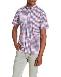 Tailor Vintage - Tri-color Gingham Print Regular Fit Shirt - Lyst