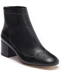 Donald J Pliner - Cafne Bow Studded Leather Bootie - Lyst