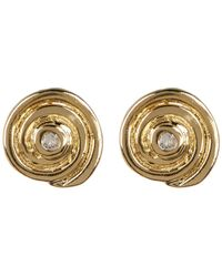 Elizabeth and James - Gold Plated White Topaz Accent Reeves Stud Earrings - Lyst