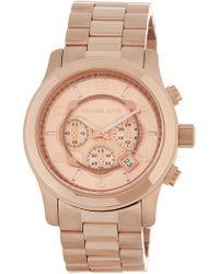 MICHAEL Michael Kors - Men's Runway Chronograph Bracelet Watch, 45mm - Lyst