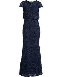 JS Collections - Sequin Lace Blouson Gown - Lyst
