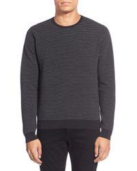 Calibrate - 'ottoman Stripe' Trim Fit Crewneck Sweater (regular & Tall) - Lyst