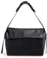 AllSaints - Maya Calfskin Shoulder Bag - Lyst
