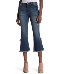 bd0fafecc191 Democracy - Luxe Touch High Rise Crop Flare Leg Jeans - Lyst