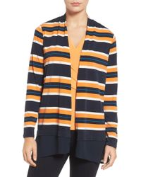 Chaus - Colorblock Striped Cardigan - Lyst