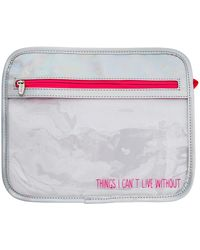 MIAMICA - 'things I Can't Live Without' 2-piece Clear Accessory Pouch Set - Lyst