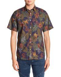 Descendant Of Thieves - Hawaiian Sketch Slim Fit Shirt - Lyst