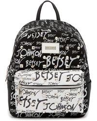 Betsey Johnson - Print Pattern Backpack - Lyst