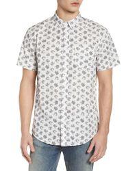 The Rail - Printed Cotton Poplin Shirt - Lyst
