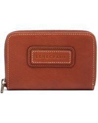Longchamp - Legend Leather Zip Coin Purse - Lyst