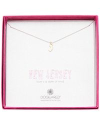 Dogeared - Sterling Silver State Of Mind New Jersey Pendant Necklace - Lyst