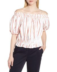 7d73ff51abfe42 LEWIT - Puff Sleeve Stripe Top - Lyst