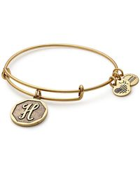 ALEX AND ANI - 'initial' Adjustable Wire Bracelet - Lyst
