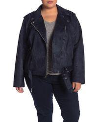 bc4d1840570 Levi s - Faux Suede Moto Jacket (plus Size) - Lyst