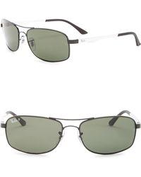 c1e6885710 Lyst - Ray-Ban 58mm Square Sunglasses in Metallic for Men
