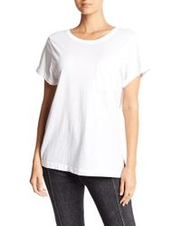 Stateside - Rolled Short Sleeve Tee - Lyst