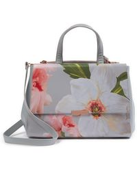 a6813ffd22e3 Lyst - Ted Baker Small Orsja Chatsworth Bloom Nylon Tote in Gray