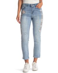 Velvet Heart - Roelle Embroidered Cropped Jeans - Lyst