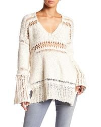 Free People - Belong To You V-neck Knit Sweater - Lyst