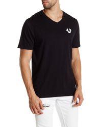 True Religion - Solid Logo V-neck Tee - Lyst